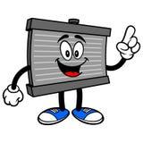 Apontar da mascote do radiador ilustração stock