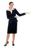 Apontar da mulher de negócios imagem de stock royalty free
