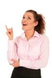 Apontar da mulher de negócios Fotos de Stock
