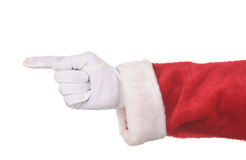 Apontar de Papai Noel Foto de Stock Royalty Free