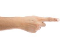 Apontar do dedo da mão isolado fotografia de stock royalty free