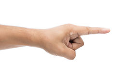 Apontar do dedo da mão isolado Imagens de Stock