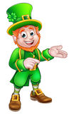 Apontar do duende do dia do St Patricks dos desenhos animados ilustração do vetor