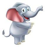 Apontar do elefante Foto de Stock