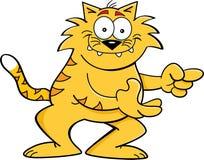 Apontar do gato dos desenhos animados Fotos de Stock Royalty Free