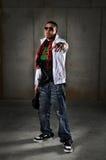 Apontar do homem de Hip Hop Fotos de Stock Royalty Free