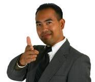 Apontar do homem de negócio Imagens de Stock Royalty Free