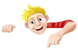 Apontar do homem dos desenhos animados Fotografia de Stock Royalty Free