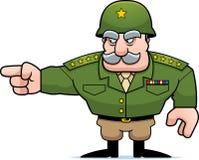 Apontar geral militar dos desenhos animados Fotografia de Stock Royalty Free