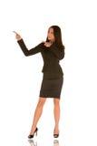 Apontar novo da mulher de negócios Imagem de Stock