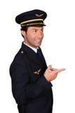 Apontar piloto fotografia de stock