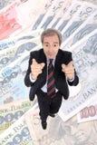 Apontar rico do homem de negócio Fotos de Stock Royalty Free
