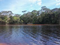 Aponwao River, La Gran Sabana, Bolivar State Venezuela, a place of peace and harmony royalty free stock images
