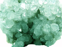 Apophyllite geode geological crystals Royalty Free Stock Image