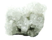 Apophyllite geode geological crystals Stock Photos