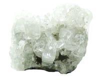 Apophyllite geode geological crystals Stock Photos
