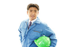 APortrait of a worker with hard hat Royalty Free Stock Photography