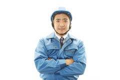 APortrait of a worker with hard hat Royalty Free Stock Photo