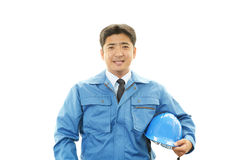 APortrait of a worker with hard hat Royalty Free Stock Photos