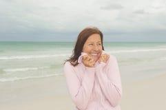 Aposentadoria madura feliz do activd da mulher Foto de Stock