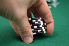 Aposta do pôquer Imagens de Stock Royalty Free