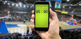 Aposta na arena do basquetebol Fotografia de Stock