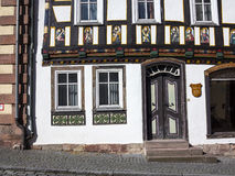 Apostel half timbered house in fairy tale town Royalty Free Stock Photography