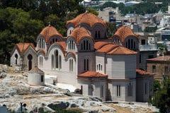 apostelathens kyrklig greece helgedom arkivbilder