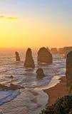 12 apostelen Grote Oceaanweg Australië Stock Afbeeldingen
