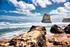 12 apostelen toneelmening van Gibson Steps, Australi?, Victoria stock afbeeldingen