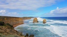 12 Apostels在大洋路在澳大利亚Roadtrip 库存图片
