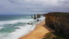 12 Apostels在大洋路在澳大利亚Roadtrip 免版税库存图片