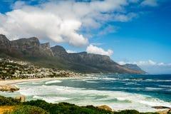 12 Apostels в Кейптауне Южной Африке Стоковое Изображение RF