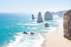 12 Apostels и скалы на большой дороге океана, Виктория, Австралия Стоковое Фото