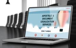 Apostille i dokument legalizaci usługa pojęcie 3d Zdjęcia Royalty Free