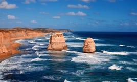 12 apostlar australasian Royaltyfri Fotografi