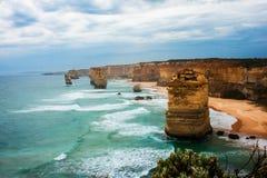 12 apostlar Australien Arkivfoto