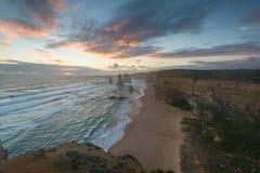 12 apostlar på Victorai, Australien Arkivfoto