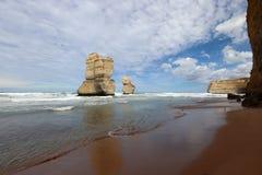 12 apostlar, port Campbell, stor havväg i Victoria, Australien Royaltyfria Bilder