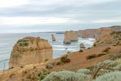 12 apostlar, stor havväg, Victoria Australia Oct 2017 Arkivfoto