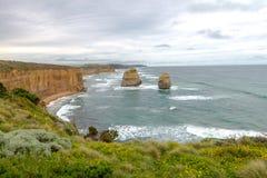 12 apostlar, stor havväg, Victoria Australia Oct 2017 Arkivbild
