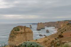 12 apostlar, stor havväg, Victoria Australia Oct 2017 Royaltyfri Fotografi