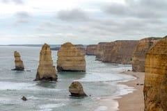 12 apostlar, stor havväg, Victoria Australia Oct 2017 Arkivfoton
