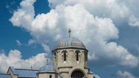 Apostle and Evangelist Luke church. Eastern orthodox church. Belgrade, Serbia royalty free stock images