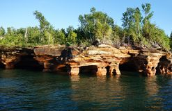 Apostle Islands cave royalty free stock image