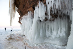 Apostle Islands Ice Caves, Winter Landscape Royalty Free Stock Photography