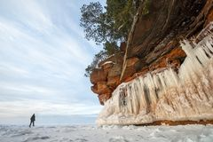 Free Apostle Islands Ice Caves, Winter, Travel Wisconsin Royalty Free Stock Photography - 141347287