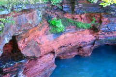Apostle Islands National Lakeshore. Cliffs along the shores of Wisconsin at Apostle Island National Lakeshore Stock Image