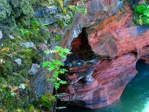 Apostle Islands Sea Cave Wisconsin royalty free stock photos
