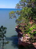 Apostle Islands - Wisconsin. View of Lake Superior from Apostle Islands National Lakeshore in northern Wisconsin royalty free stock image